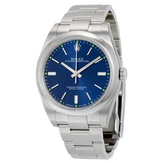 Rolex Men's Oyster Perpetual Blue Dial Watch