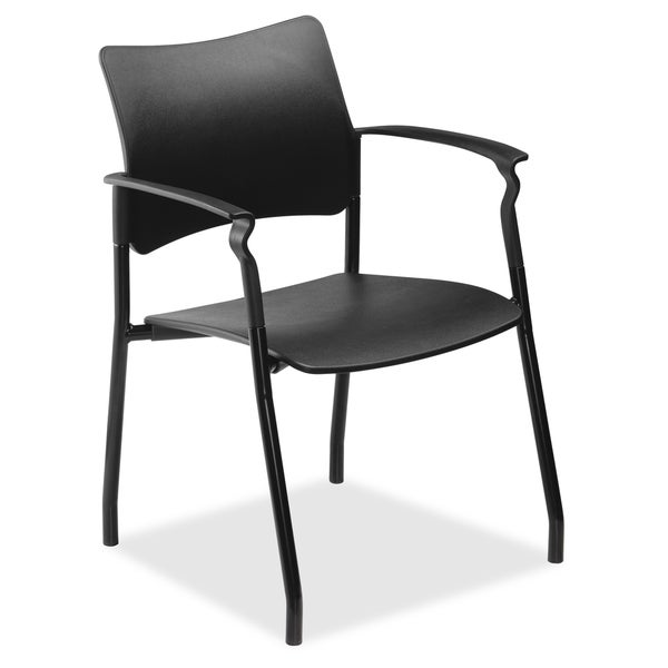 Lorell Stack Chair with Fixed Arms
