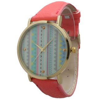 Olivia Pratt Women's Pastel Tribal Leather Watch