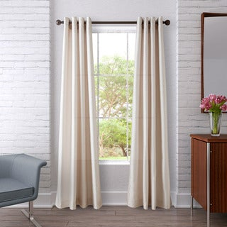 Heritage Landing Dot Chevron Ivory Curtain Set
