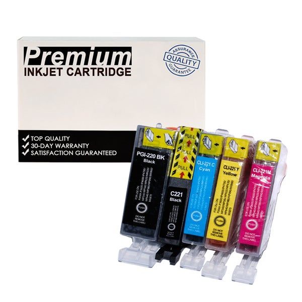 Compatible Canon PGI-220XL CLI-221XL KKCYM InkJet Cartridges (5-pack)