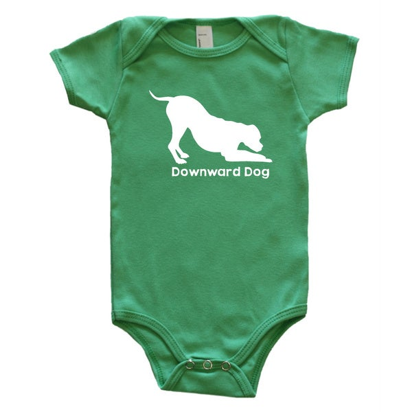 Rocket Bug Downward Dog Baby Bodysuit
