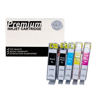 Compatible HP 564XL (CN684WN) KKCYM InkJet Cartridge (5-pack)