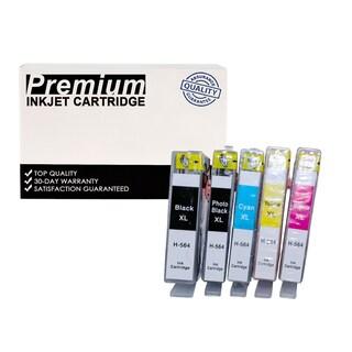 Compatible HP 564XL (CN684WN) KKCYM InkJet Cartridge (5-pack)