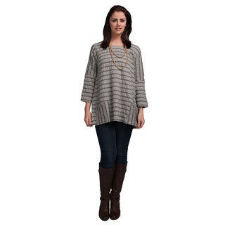 Women's Round Neck Stripe Tunic