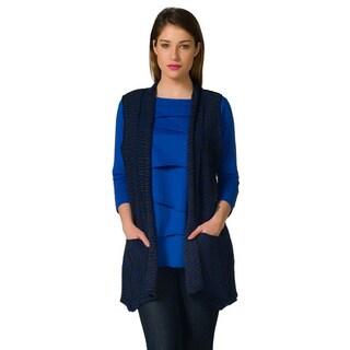 Women's Two-Tone Cardigan Vest