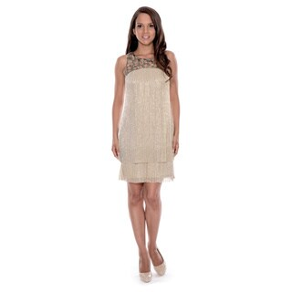 Decode 1.8 Women's Jeweled Metallic Dress