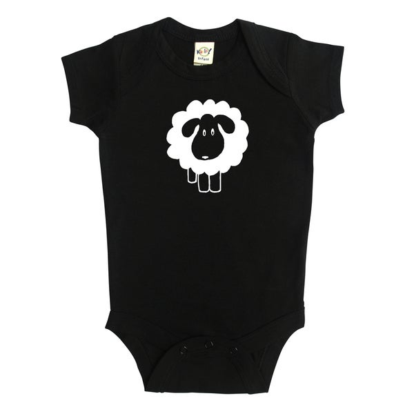 Rocket Bug Sheep Silhouette Baby Bodysuit