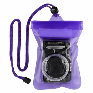 INSTEN Purple Waterproof Camera Phone Travel Sports Case Cover with Rope