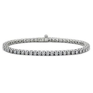 Suzy Levian 14k White Gold 2.5ct TDW Diamond Tennis Bracelet (G-H, SI1-SI2)