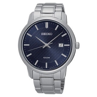 Seiko Men's SUR193 Stainless Steel Blue Dial with a Date Window at 3:00 O'clock Watch