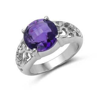 Malaika Sterling Silver Amethyst Ring