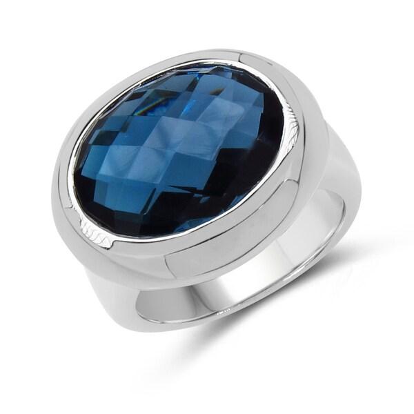 Malaika Sterling Silver London Blue Topaz Ring