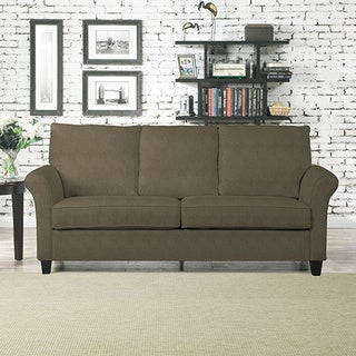 Better Living Mocha Brown Suede Rockford Sofa