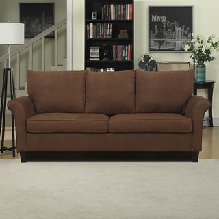 Better Living Chocolate Brown Suede Rockford Sofa