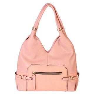 Rimen & Co. Soft Faux Leather Front Pocket Hobo Handbag