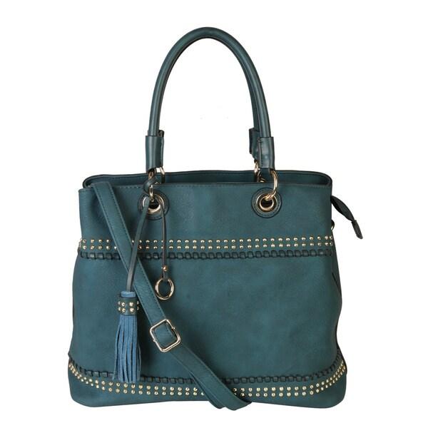 Rimen & Co. Gold Studded Tassel Handbag