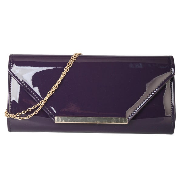 Rimen & Co. Envelope Metal Chain Crossbody Clutch Handbag