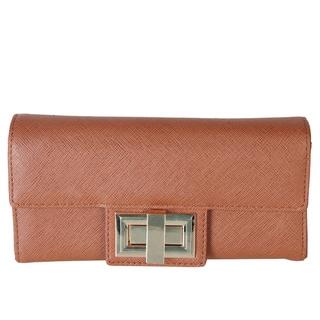 Rimen & Co. Saffiano Faux Leather Clutch Handbag