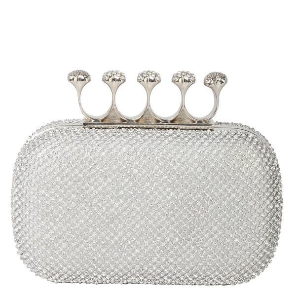 Rimen & Co. Rhinestone Crystal Ring Knuckle Wedding Clutch