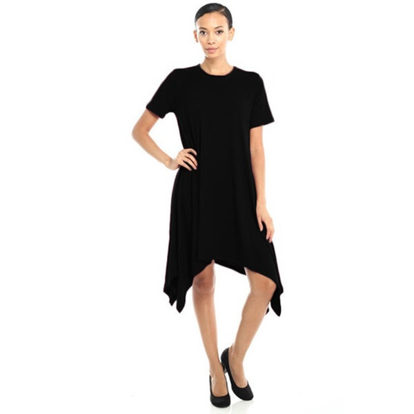 JED Women's Asymmetric Hem T-Shirt Dress