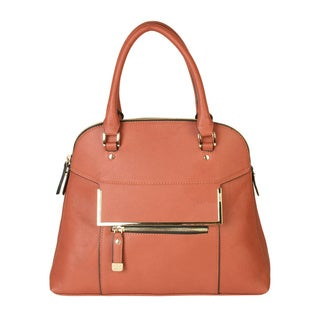 Rimen & Co. Faux Leather Bowler Handbag
