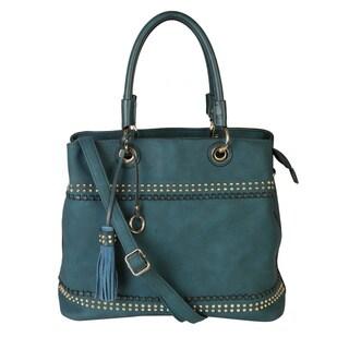Rimen & Co. Faux Leather Studded Hobo Handbag