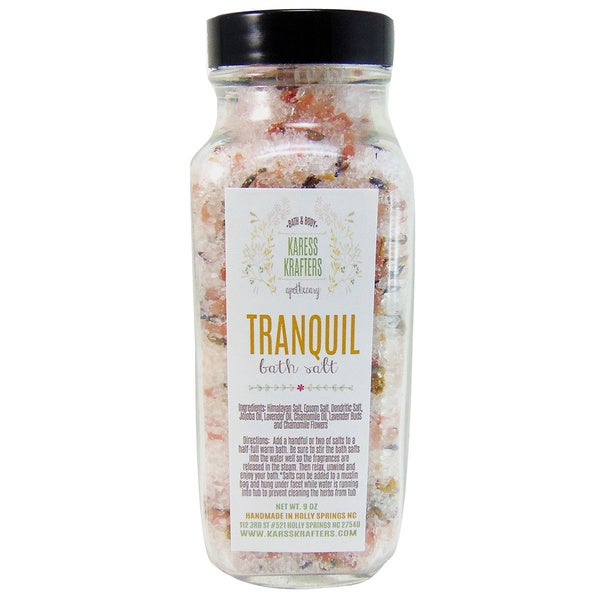 Tranquil Bath Salts with Himalayan, Chamomile and Lavender by Karess Krafters Apothecary