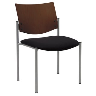 Evolve Series-Side/ Guest Chair Armless with a Chocolate Wood Back