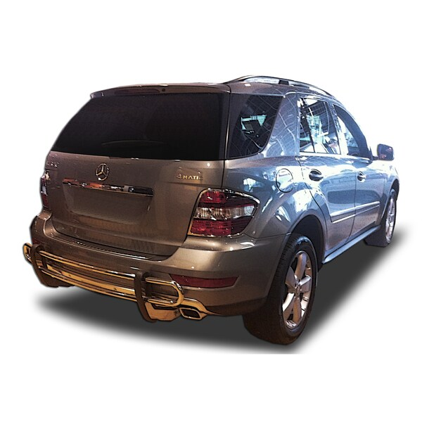 2006 - 2011 Mercedes ML350/ 550/ GL450/ GL550 Non-AMG Models Stainless Steel Rear Double Pipe