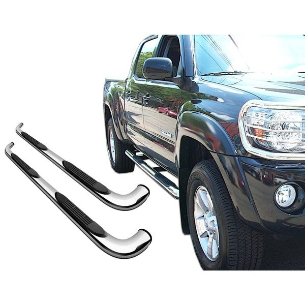 2007 - 2013 Hyundai Santa FE Stainless Steel 3-inch Round Side Step