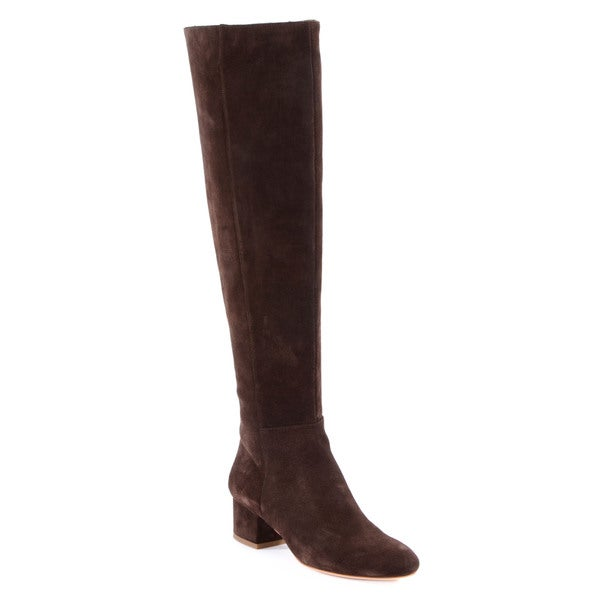 Halston Heritage Jennifer Brown Suede Knee Boot