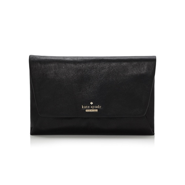 Kate Spade Black Leather Ivy Place Alexis Clutch