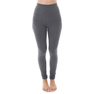 Soho Apparel Women's Heather High Waist Fleece Leggings