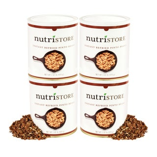 Nutristore Instant Refried Beans (Pack of 4)