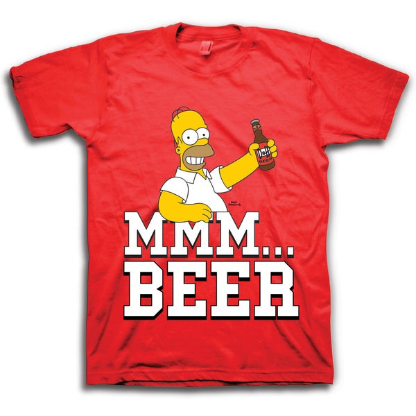 Men's Homer Mmm Beer Graphic Short Sleeve T-Shirt