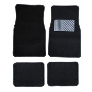 4-piece Black Carpet Car Mat
