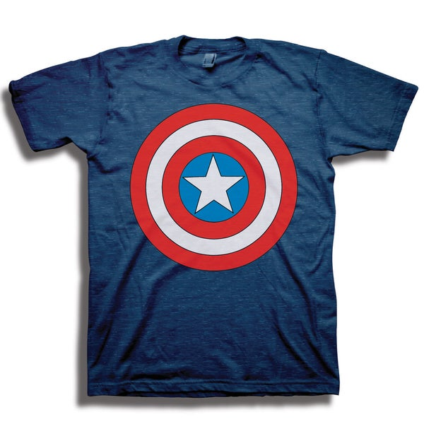 Marvel Men's Captain American Shield Short Sleeve T-Shirt