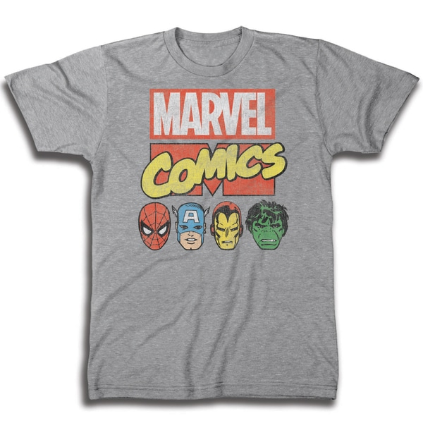 Marvel Men's Comics Classic Group Shot Short Sleeve T-Shirt