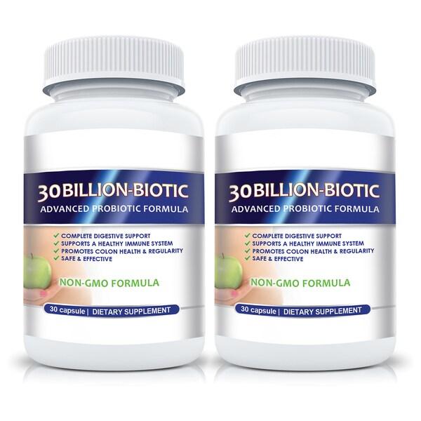 Advanced Probiotics with 30 Billion CFU's for Gastrointestinal Support