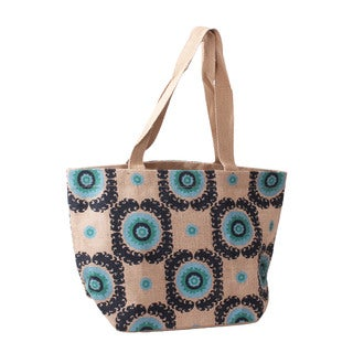 Suzanni Jute Shopper Tote Bag