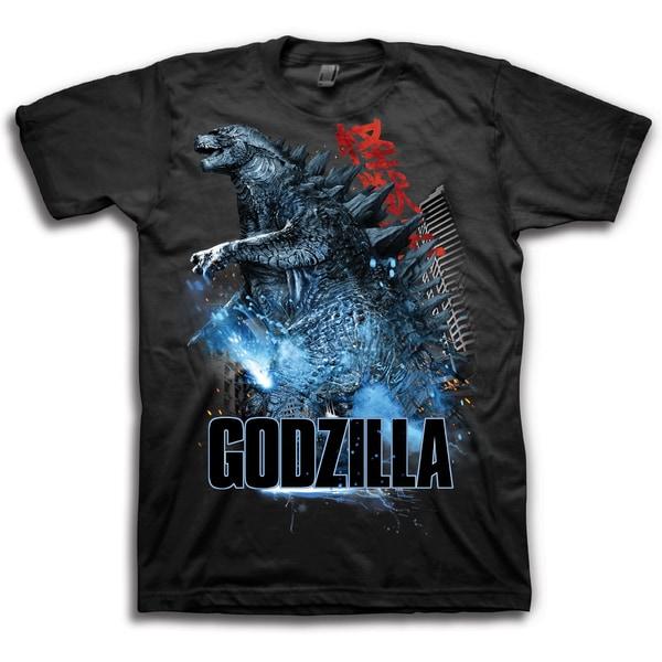 Warner Brothers Men's Godzilla Graphic Short Sleeve T-Shirt