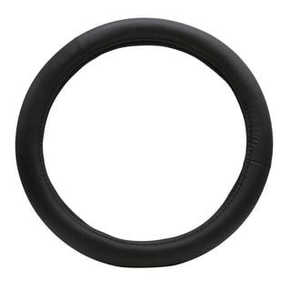 """Fit 15"""" Black PU Memory Foam Steering Wheel Cover"""