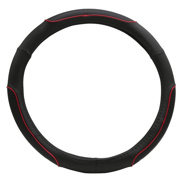 Fit 15-inch Red Ring Steering Wheel Cover