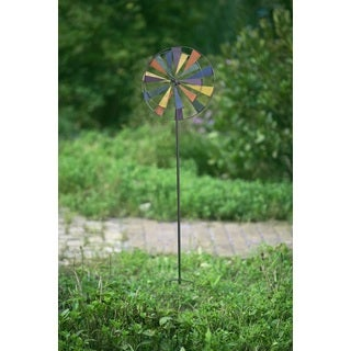 Sunjoy Large Kinetic Windmill Iron Garden Stake