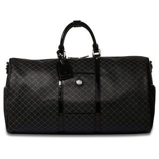Rioni Signature Shiny Black 22-inch Carry On Travel Duffel Bag