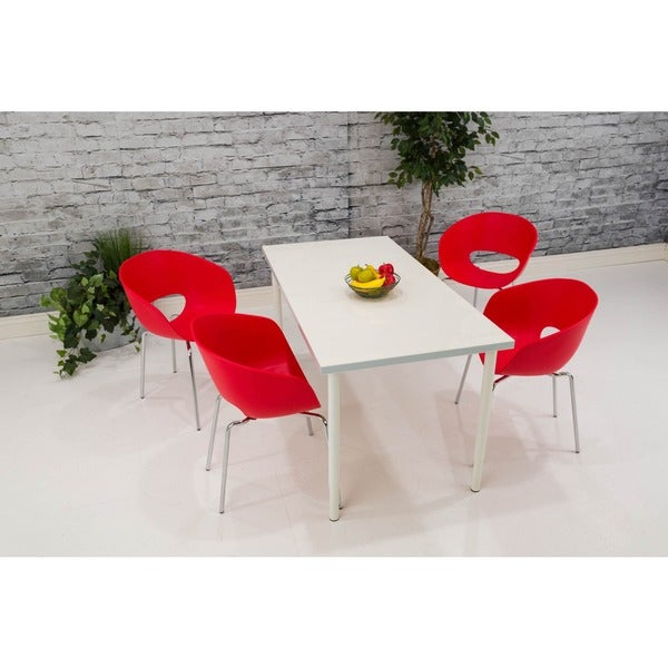 Somette Red Bucket Chair (Set of 4)