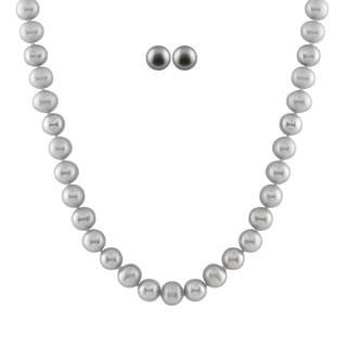 Grey Freshwater Pearl Set (8-8.5 mm)