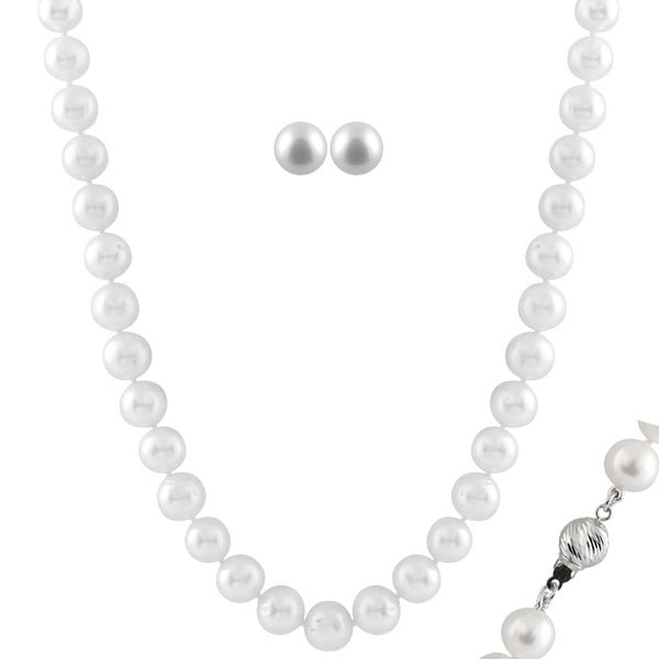 Large White Pearl Set (8-8.5 mm)