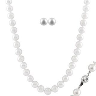 Large White Pearl Set (8-8.5 mm)